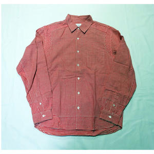 USED(古着)GOODENOUGHシャツ(レッドギンガムチェック)