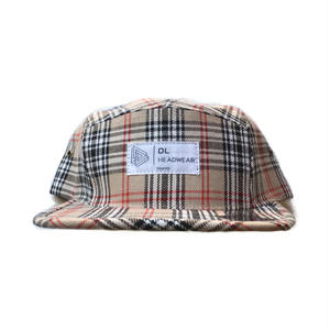 "DL HEADWEAR | Omega 5Panel Camp Cap ""nova check"""