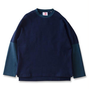 SON OF THE CHEESE | Layer tee(NAVY)