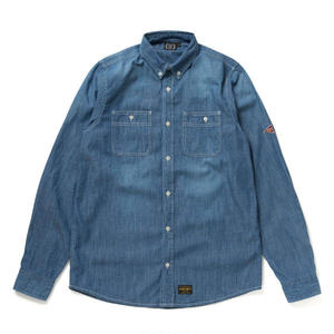 430 | L/S WASHED DENIM SHIRTS (HARD-WASH)