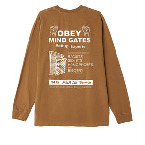 OBEY | OBEY Mind Gates Basic Pigment Long Sleeve Tee