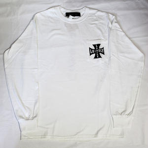 LONELY論理 #7 | IRON CROSS LONELY POCKET LONG SLEEVE(WHITE)