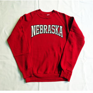 USED(古着)NEBRASKA クルースウェット(レッド)