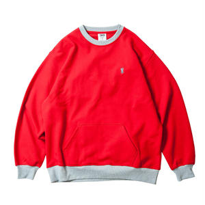 Tightbooth / CONTRAST CREW SWEAT (RED)