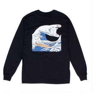 RIPNDIP | THE GREAT WAVE OF NERM L/S TEE (BLACK)