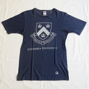 USED (古着)COLUMBIA UNIVERSITY Tシャツ(ネイビー)