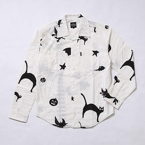 Oh!theuilt:HALOWEEN OPEN COLLAR SHIRT