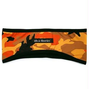 40s & Shorties | Orange Camo Ear Warmer(Reversible)