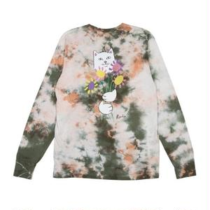 RIPNDIP | FLOWERS FOR BAE L/S TEE (GREEN / PINK ACID WASH)