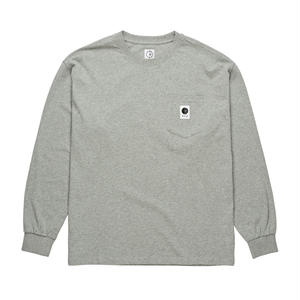 POLAR SKATE CO. / POCKET L/S TEE (H.GRAY)