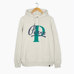by Parra | hooded sweater painterly script (oatmeal)