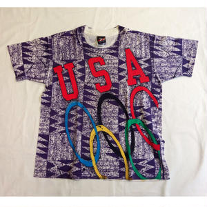 USED (古着)JC PENNY USA OLYMPIC Tシャツ(総柄)