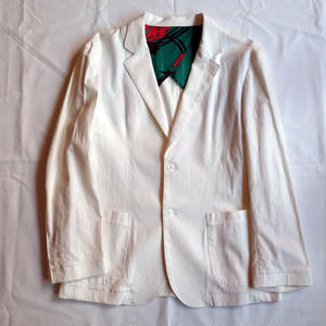 Oh!theGuilt:STRETCH LINEN TAILORED JACKET(ホワイト)