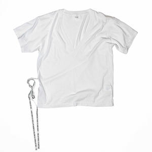 V Neck Strap T-shirt.