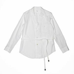 Lapeled Strap Shirt. -Cotton Broad Cloth-