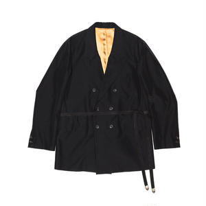 Double Breasted Strap Jacket. -OX-