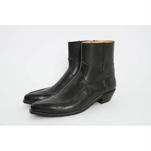 Western Mocasin Side Zip Boots. -Cow Hide-