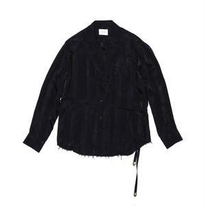 Lapeled Strap Shirt.  -Cupro Stripe