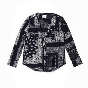 Cutting Western Shirt. -Bandana Flannel-