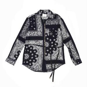 Zip Strap Shirt.  -Bandana Flannel-