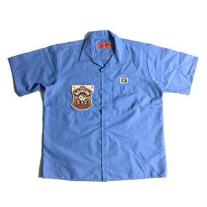 """""""CRU"""" (ワークシャツ/ライトブルー) #EXC-7SH01"""