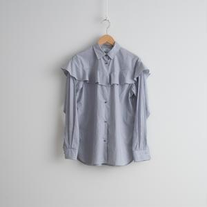 ALLEGE FEMME / Stripe frill shirt