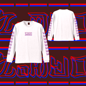 L/S TEE 「3D」-WHITE