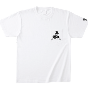 S/S ポケットTEE 「LAZY」-WHITE
