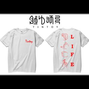 S/S TEE -「LIFE」-WHITE