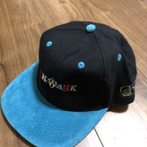 "wack wack  ""BACK2SKOOL""6pannel CAP BKxLIGHT BLUE"