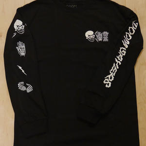 "DOOM SAYERS ""X-RAY"" L/S-Tシャツ (BLACK)/M"