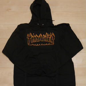 THRASHER  FLAME LOGO  PULLOVER HOODIE