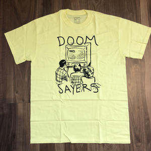 "DOOM SAYERS ""Kill telev black"" lemon Size M"