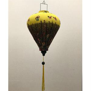 ベトナムランタン ほおずき形 Lサイズ 黄色【花柄】