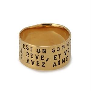 【再入荷】SERGE THORAVAL:セルジュトラヴァル《Reve Ring - GOLD R97》 夢 リング ペア ゴールド