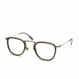 OG × OLIVER GOLDSMITH:オージーバイオリバーゴールドスミス《Door2 -ドア2 col.003 Antique Silver MatBlack》 眼鏡 ウエリントン