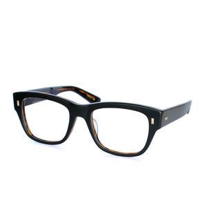 Mr.Gentleman Eyewear:ミスタージェントルマン・アイウェア 《COSTELLO -コステロ Col.Mat Black & Havana》  眼鏡 ウエリントン