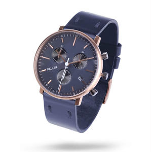 PAULIN:ポーリン《C201A-NV-B ローズゴールド/ネイビー》腕時計 英国製クロノグラフ