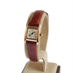 fleur:フル―ル 《F003 - PINK GOLD/BROWN》腕時計 レザーベルト