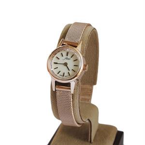 fleur:フル―ル《F002 -  PINK GOLD/MESH》腕時計 メタルメッシュベルト