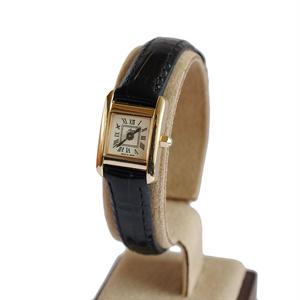 fleur:フル―ル 《F003 - GOLD/BLACK》腕時計 レザーベルト
