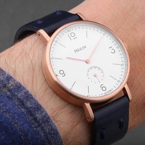 PAULIN:ポーリン《TN100D-NV-B ホワイト/ネイビー》腕時計 英国製ウォッチ