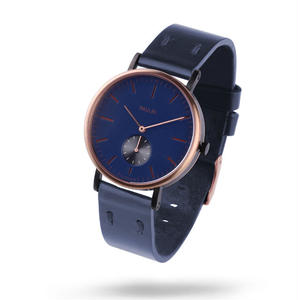 PAULIN:ポーリン《TO100D-NV-B ローズゴールド/ネイビー》腕時計 英国製ウォッチ