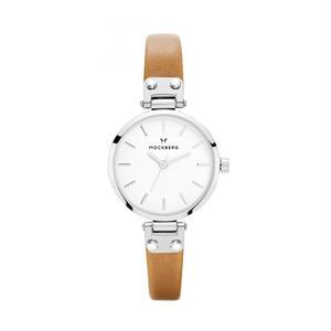 MOCKBERG:モックバーグ《MO206 WERA PETITE Silver/White/Light Brown》腕時計 レザーバンド