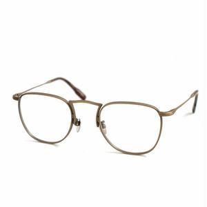 OG × OLIVER GOLDSMITH:オージーバイオリバーゴールドスミス《Door -ドア col. 004 Antique Gold》 眼鏡 ウエリントン