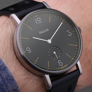PAULIN:ポーリン《TN100B-BL-B ブラック/ブラック》腕時計 英国製ウォッチ