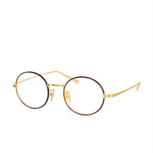 OG×OLIVER GOLDSMITH:オージー バイ オリバー ゴールドスミス《Knitter46 -ニッター Col.023 Gold×Brown》 眼鏡 ボストン