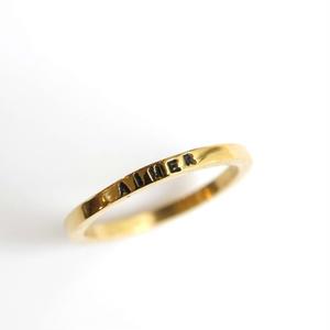 【再入荷】SERGE THORAVAL:セルジュトラヴァル《AIMER Ring / GOLD Ano-11》アイマー リング ゴールド