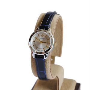 fleur:フル―ル 《F001 - SILVER/NAVY》腕時計 レザーベルト