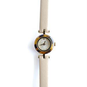 induna:インデュナ 《ECAILLE AMBER×BEIGE》時計 リストウォッチ べっ甲柄